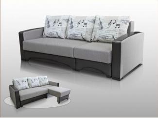 Простой серый диван Дионис 19 - Мебельная фабрика «Янтарь»