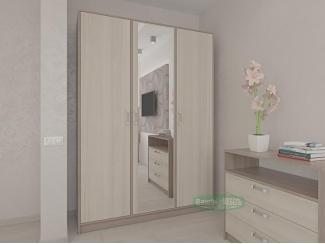 Светлый шкаф ШРЗ-1 с зеркалом  - Мебельная фабрика «Ваша мебель»