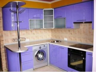 Угловая фиолетовая кухня - Мебельная фабрика «Мебелина»