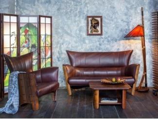 Классическая мягкая кожаная мебель