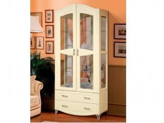 Шкаф-витрина для посуды Аврора 15 - Мебельная фабрика «Аджио»
