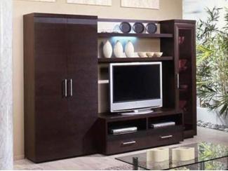 Коричневая гостиная Сантана  - Мебельная фабрика «Интерьер»