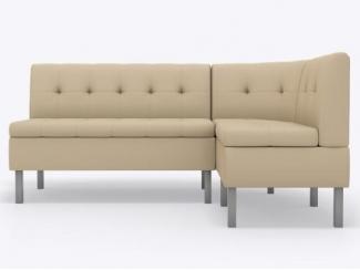 Угловой кухонный диван Сэм в бежевом цвете  - Изготовление мебели на заказ «Кухни ЧУ»