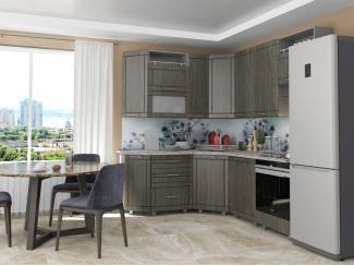 Угловая кухня Мадена Белый Зебрано светлый