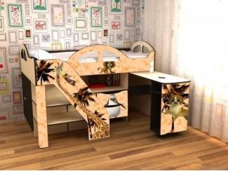 Кровать детская с УФ печатью КД Альфа 4.1 - Мебельная фабрика «Квадрат»