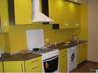 Прямая желтая кухня - Мебельная фабрика «Альфа-Мебель»