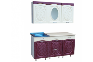 Кухня Женя 1,5 МДФ - Мебельная фабрика «Мебельный Арсенал»