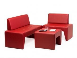 Угловой диван на кухню Кит с пуфом - Мебельная фабрика «МВК»