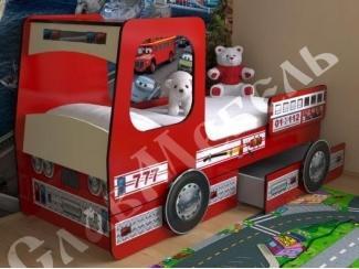 Детская с ящиками Пожарная машина