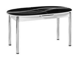 Стол овальный в черном цвете М 18 - Мебельная фабрика «Фран»