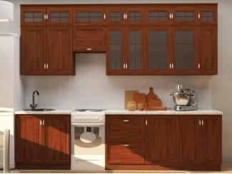 Коричневая кухня Элетто  - Мебельная фабрика «Корвет»
