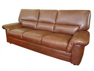 Коричневый кожзам диван А-100