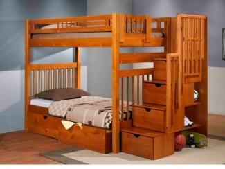 Кровать Двухъярусная Артек из массива сосны  - Мебельная фабрика «Дубрава»