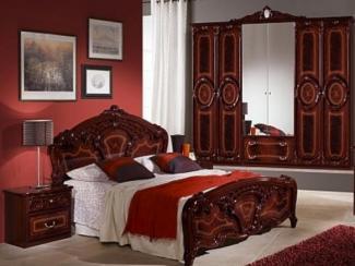 Спальный гарнитур «Амбра могано» - Оптовый мебельный склад «Дина мебель»