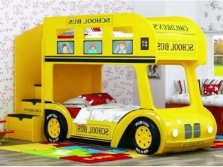 Двухъярусная кровать-Aвтобус  ШКОЛЬНЫЙ  Люк - Мебельная фабрика «Red River»