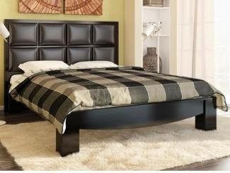Кровать с изголовьем из экокожи Эвита  - Мебельная фабрика «Фран»
