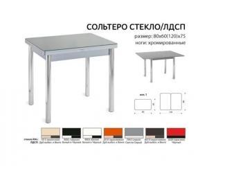 Стол раздвижной Сольтеро-стекло/ЛДСП - Мебельная фабрика «Mebel.net», г. Череповец