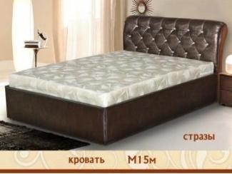 Кровать М 15 м стразы  - Мебельная фабрика «Селена»