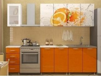 Прямая кухня Апельсин-2 с фотопечатью - Мебельная фабрика «Манго»