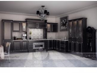 Кухня Ария Черная в серебре - Мебельная фабрика «Абико»