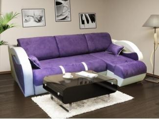 Угловой фиолетовый диван - Мебельная фабрика «Ника»