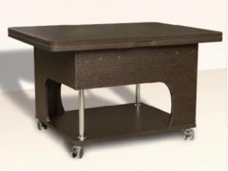 Коричневый журнально-обеденный стол Вектор  - Мебельная фабрика «Димир»