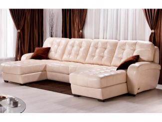 диван кожаный Форсайт - Мебельная фабрика «Британика»