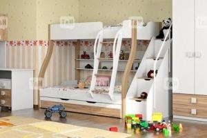 Детская двухъярусная кровать Tracy Oak  - Мебельная фабрика «ТомиНики»