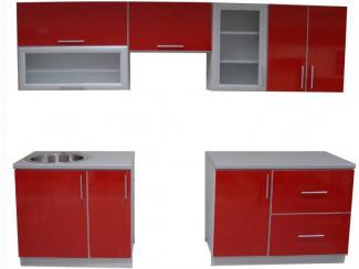 Кухня прямая Красная - Мебельная фабрика «Антарес»