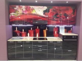 Кухня прямая с фотопечатью - Мебельная фабрика «Мебликон»