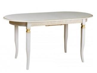 Белый стол Трапеза овал 1500 - Мебельная фабрика «КЛМ-мебель»