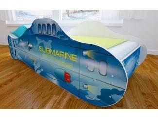 Кровать детская с матовой фотопечатью Подводная лодка