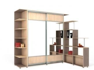 Шкаф-купе со стеллажом - Мебельная фабрика «Гарант-Мебель», г. Самара
