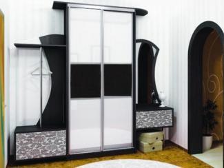 Прихожая прямая черно - белая - Изготовление мебели на заказ «Мега»