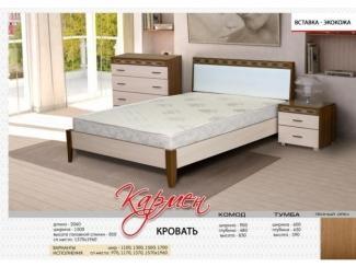 Кровать Кармен   - Мебельная фабрика «Бригантина»
