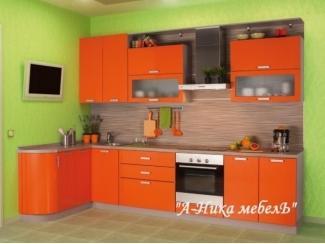 Оранжевая глянцевая кухня Ольга - Мебельная фабрика «А-Ника»