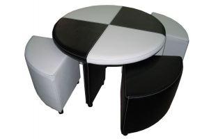 Набор мебели стол и пуфы Бридж - Мебельная фабрика «Квинта»