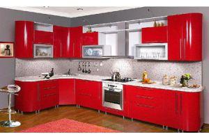 Кухня МДФ 8 красная - Мебельная фабрика «Мебель Шик» г. Ульяновск