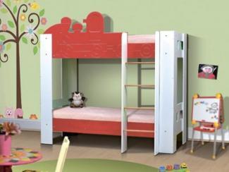 Кровать детская Паровоз 2хярусная 2