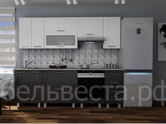 Кухонный гарнитур Марта страйп черный - Мебельная фабрика «Веста»