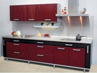 Красная прямая кухня  - Мебельная фабрика «Перспектива»