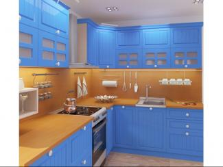 Кухня угловая Кантри синяя - Мебельная фабрика «Форс»