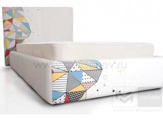 Подростковая уютная кровать с ярким принтом Кристи  - Мебельная фабрика «Мирлачева»
