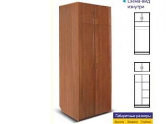 Шкаф 2х створчатый с антресолью - Мебельная фабрика «Премьер мебель»