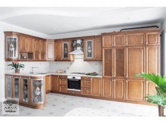 Кухонный гарнитур Береза цвет темный мед - Мебельная фабрика «ARVA»