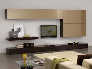 Гостиная стенка имбирь - Изготовление мебели на заказ «Мега»