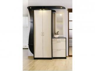 Черно-белая мебель для прихожей  - Мебельная фабрика «Елиза»
