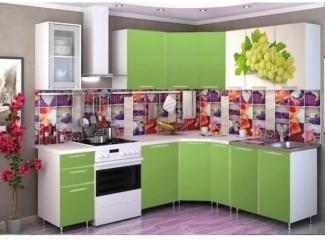 Кухня угловая с фотопечатью  Виноград - Мебельная фабрика «Мега Сити-Р»