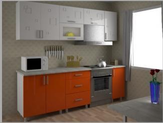 Кухонный гарнитур прямой orange