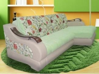 Угловой диван с цветами в спальню Корона 11 - Мебельная фабрика «Корона», г. Ульяновск